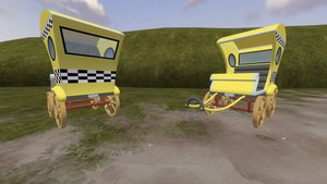 Dl  sfm  mlp taxi cart by dracagon d7riooi