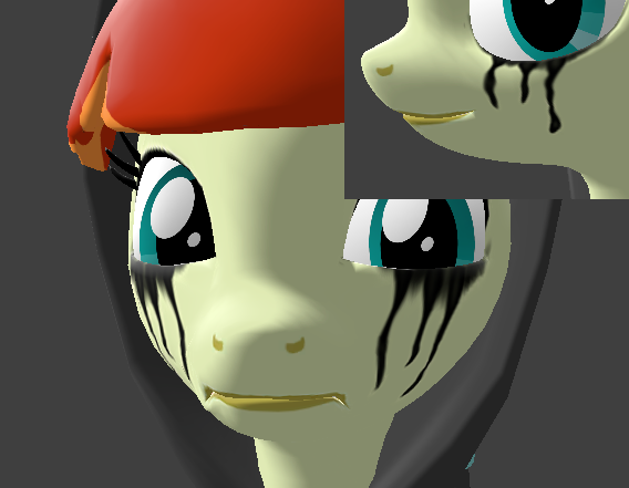 Pony Smeared Makeup
