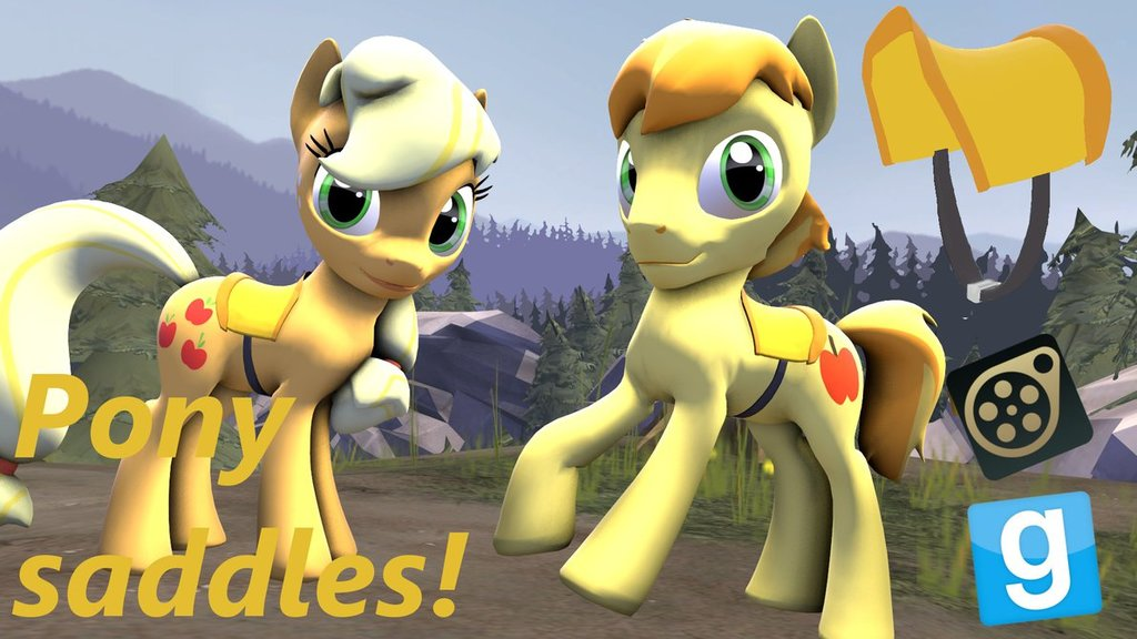 Saddle for ponies  sfm gmod by lunarguardwhoof d7zujdd