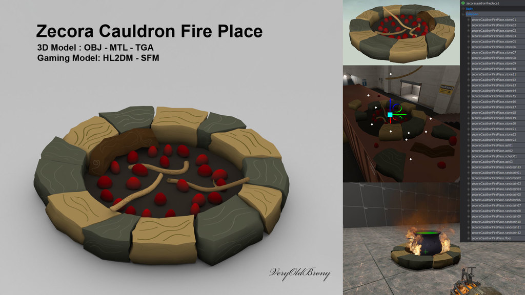 Zecora Cauldron Fire Place