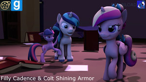 Filly Cadence n' Colt Shining Armor