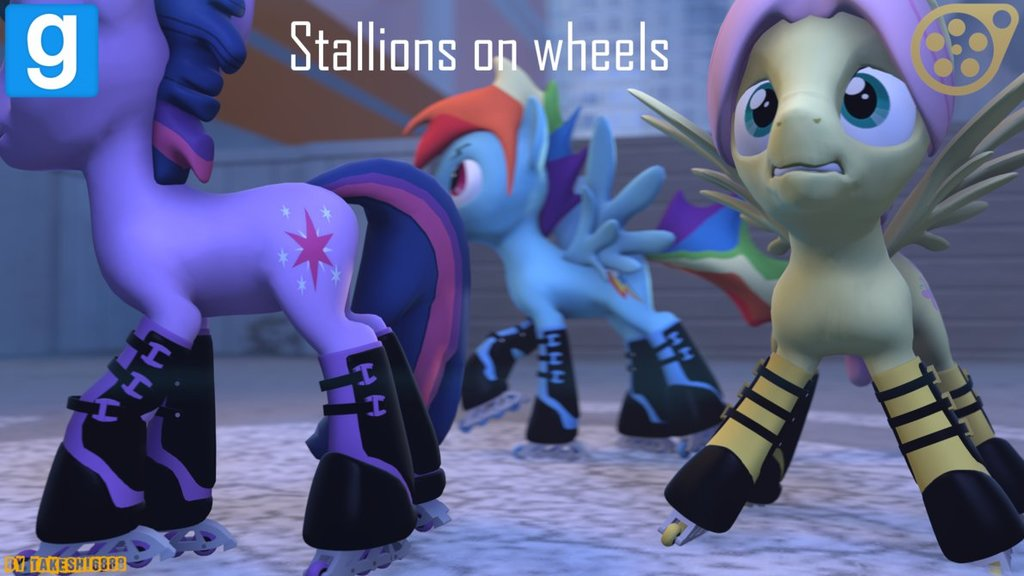 Dl  sfm ponies gmod  stallions on wheels by takeshi6888 d83b7qg