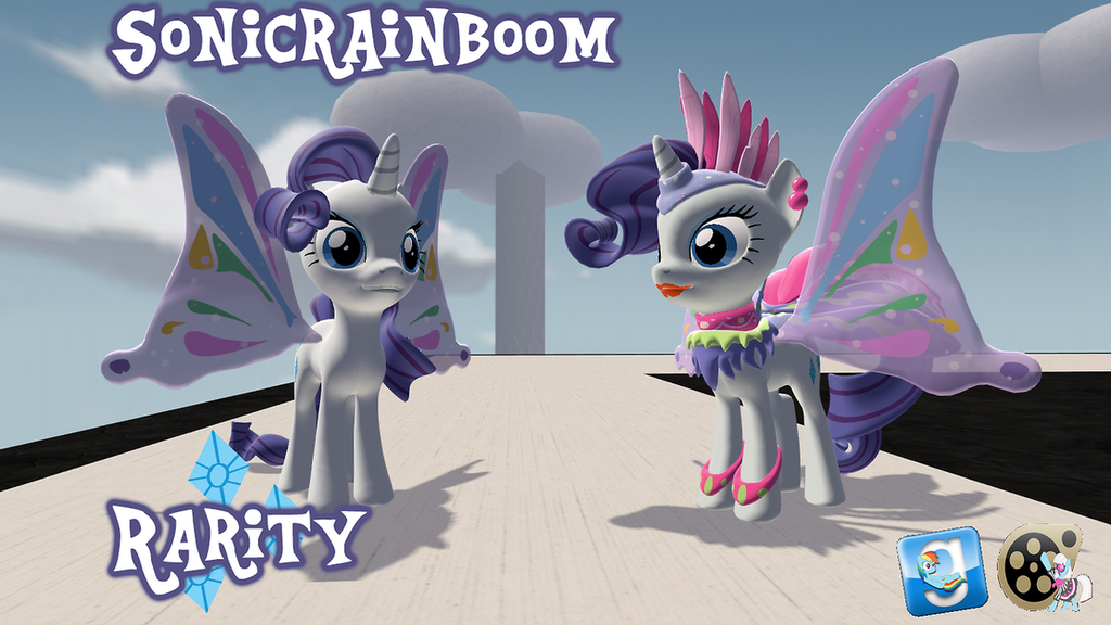Sonic Rainboom Rarity (Butterfly Rarity)
