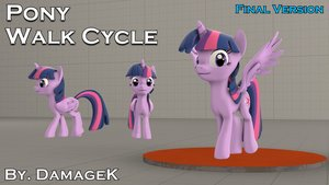sfm ponies   dl  pony walk cycle dmx  final  by damagek d9bo35v