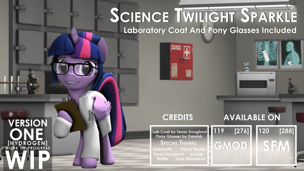 Scientific Twilight Sparkle - V1 - Hydrogen