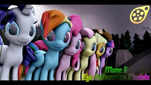 Mane 6 Eye Refraction Models | SFM