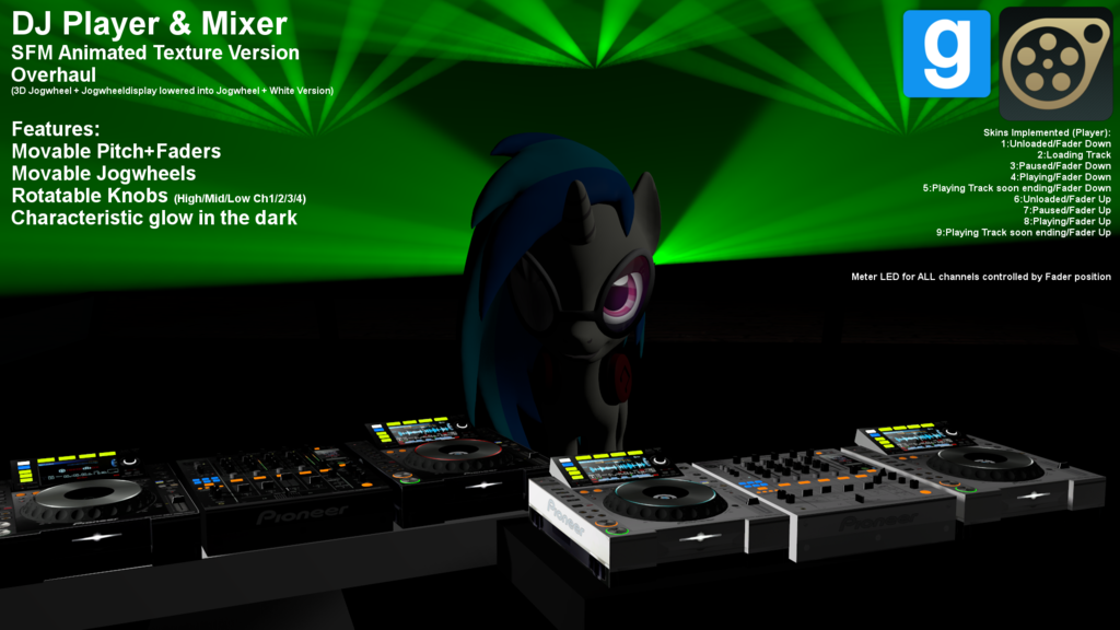DJ Player & Mixer V5.0 SFM Animated Texture Version