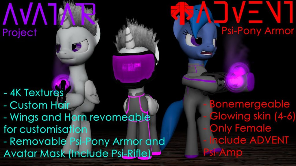 Avatar and Psi-Pony Armor