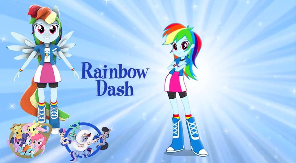 Rainbow Dash Pony Form