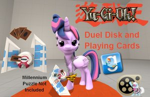 Yu-Gi-Oh! Duel Disk and Playing Cards