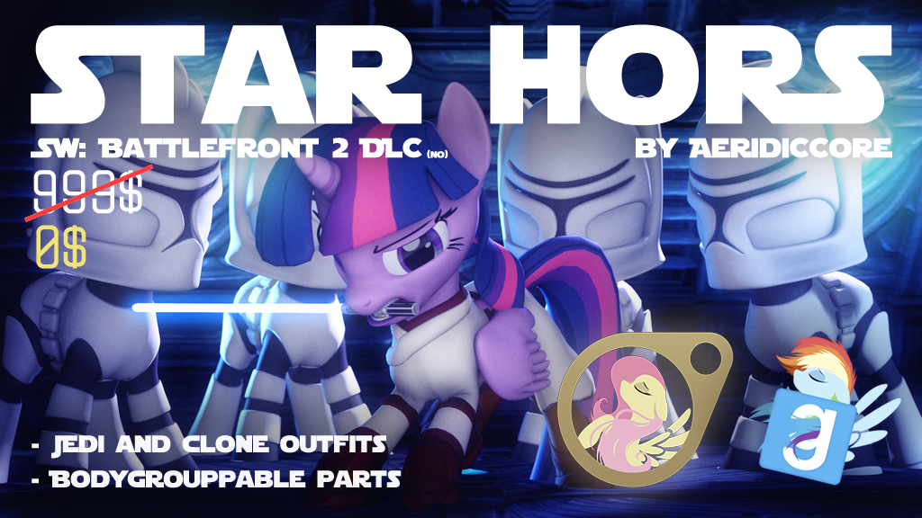 Star Hors: Jedi and Clone Pony Outfits