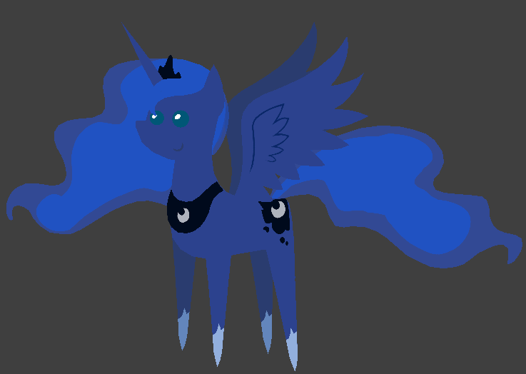 Paper (Pointy) Princess Luna