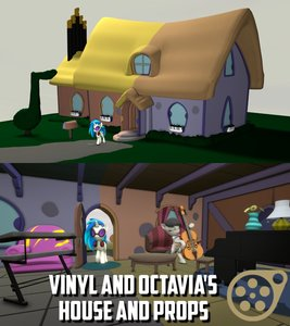 Vinyl and Octavia's House and Props