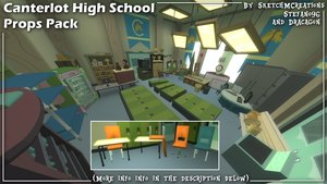 Canterlot High School Props Pack