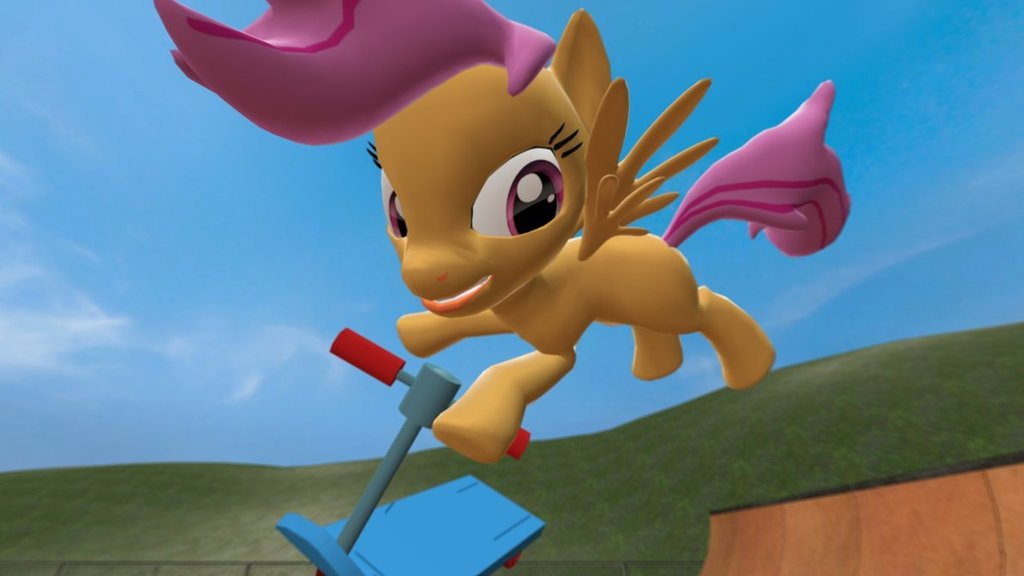 Scootaloo's Poseable Scooter