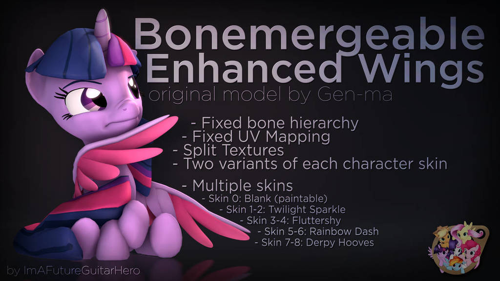 Bonemergeable Enhanced Wings
